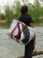 Kite-Tasche, Wind-Beutel, Upcycling Kite, Badetasche XXL, STrandtasche Upcycling