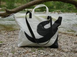 Geschenke für Kiter, Kite-Tasche, Wind-Beutel, Upcycling Kite, Badetasche XXL, STrandtasche Upcycling, Shopper Kite, Shopper Upcycling