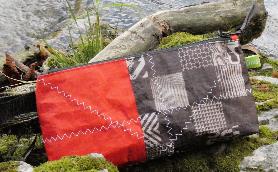 Geschenke für Kiter, Wind-Beutel, Kite-Tasche,  Waschbeutel für Kiter, Kulturbeutel für Kiter, Waschbeutel Upcycling