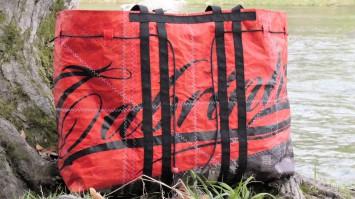 Geschenke für Kiter, Wind-Beutel, Kite-Tasche,  Tasche füt Kiter, XXL Strandtasche, Shopper aus Kite-Tuch, Upcycling Kite