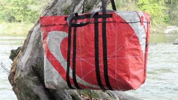 Geschenke für Kiter, Wind-Beutel, Kite-Tasche,  Tasche für Kiter, XXL Strandtasche, Shopper XXL,