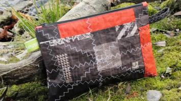 Geschenke für Kiter, Geldbeutel für Kiter, Kite-Tasche, Wind-Beutel, Portemonnaie für Kiter, Upcycling Kite