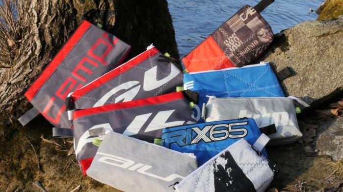 Geschenke für windsurfer, Geschenke für Kiter, Wind-Beutel, Upcycling Wind-Beutel