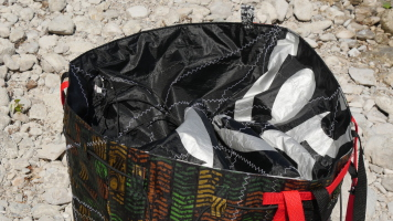 Geschenke für Kiter, Kite-Tasche, Wind-Beutel, Upcycling Kite, Badetasche XXL, STrandtasche Upcycling,