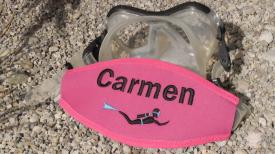 Maskenbänder mit Logo, Maskenband, Maskenbänder, individuelle Maskenbänder, Wind-Beutel, Tauchermaske, Taucherbrille, Geschenke für Taucher