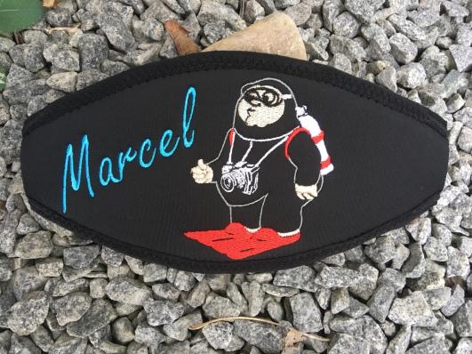 Individuelle Maskenbänder,Maskenband, Maskenbänder, Geschenke für Taucher, Wind-Beutel, Maskenband mit Namen
