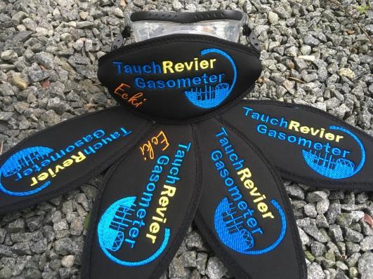 Wind-Beutel, Maskenband, Maskenbänder, individuelle Maskenbänder, Geschenke für Taucher, Maskenband mit Logo