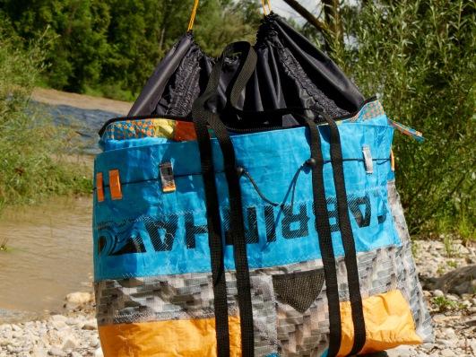 Wind-Beutel, Maskenband, Maskenbänder, individuelle Maskenbänder, Geschenke für Taucher, XXL Strandtasche, Tasche für Taucher,
